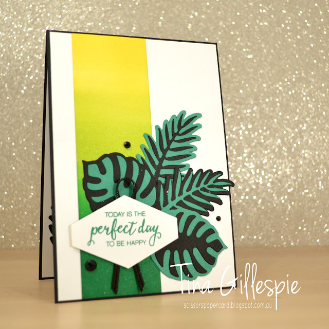 scissorspapercard, Stampin' Up!, Art With Heart, Colour Creations, Tropical Escape DSP, Bunch Of Blossoms, Tropical Thinlits