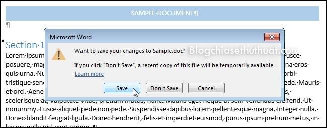 Hướng dẫn đổi đuôi file Word từ 2007,2010 lên Word 2013