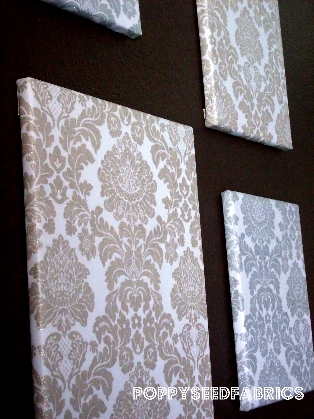 Poppyseed fabrics fabric wall art tutorial for Do it yourself decorative wall painting