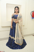 Niveda Thomas in Lovely Blue Cold Shoulder Ghagra Choli Transparent Chunni ~  Exclusive Celebrities Galleries 055.JPG