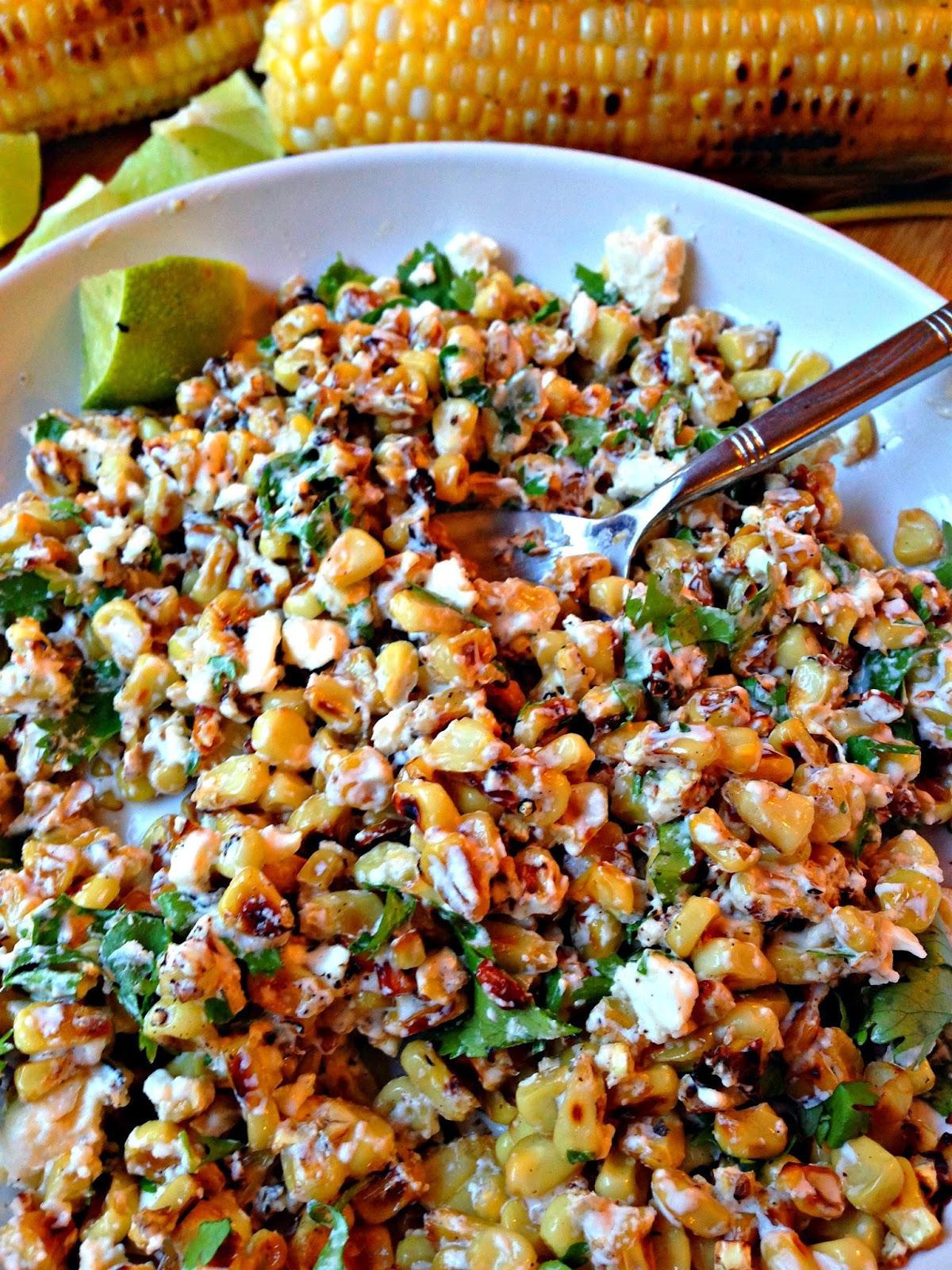 Mexican Cilantro Lime Corn Crema