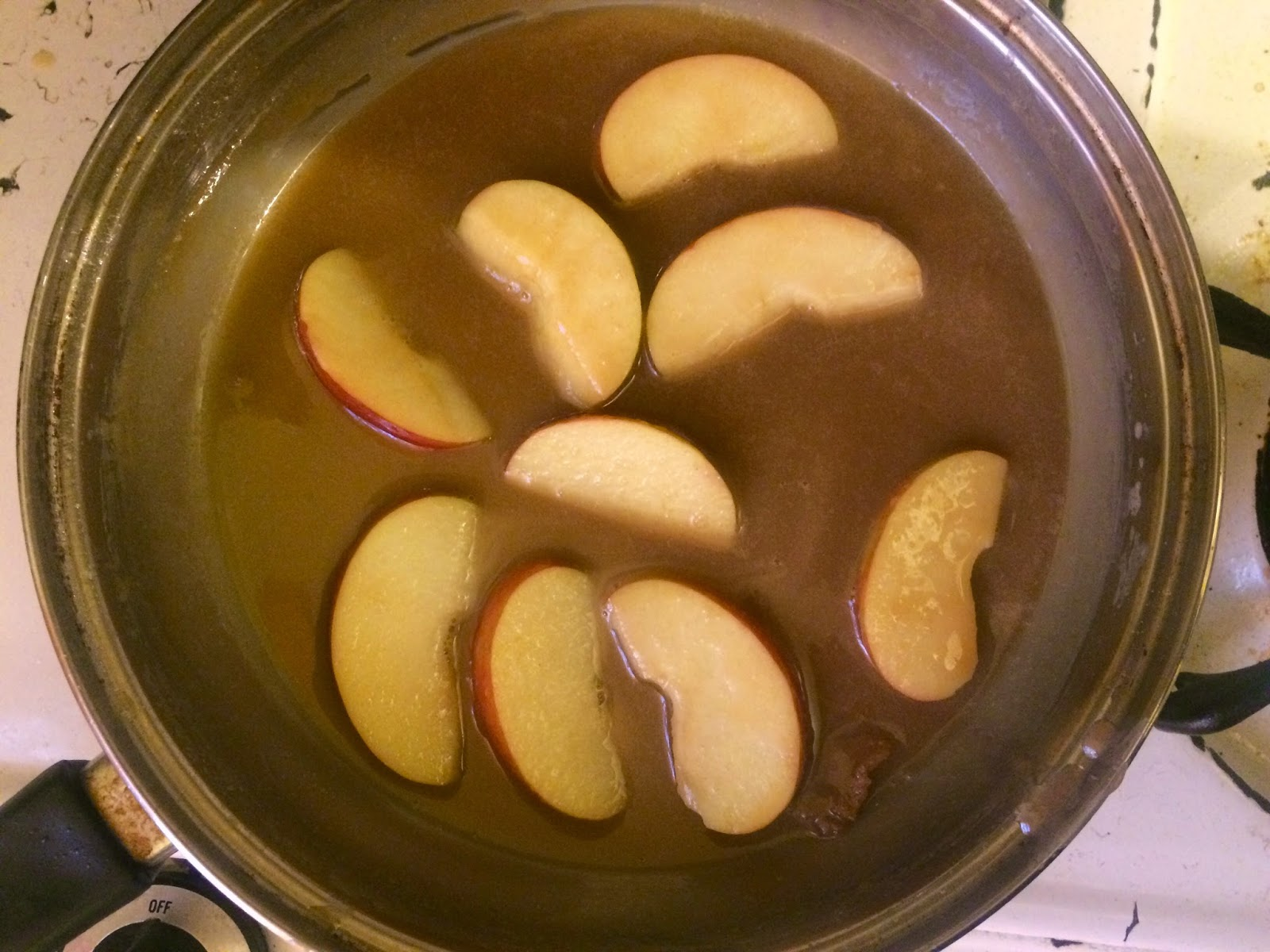 eating fabulously, christopher stewart, apples, caramel, hot cereal, recipe