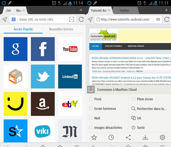 Maxthon Web Browser pour Android