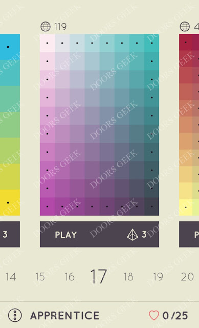 I Love Hue Apprentice Level 17 Solution, Cheats, Walkthrough