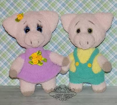 Свинки Сеня и Дуняша спицами