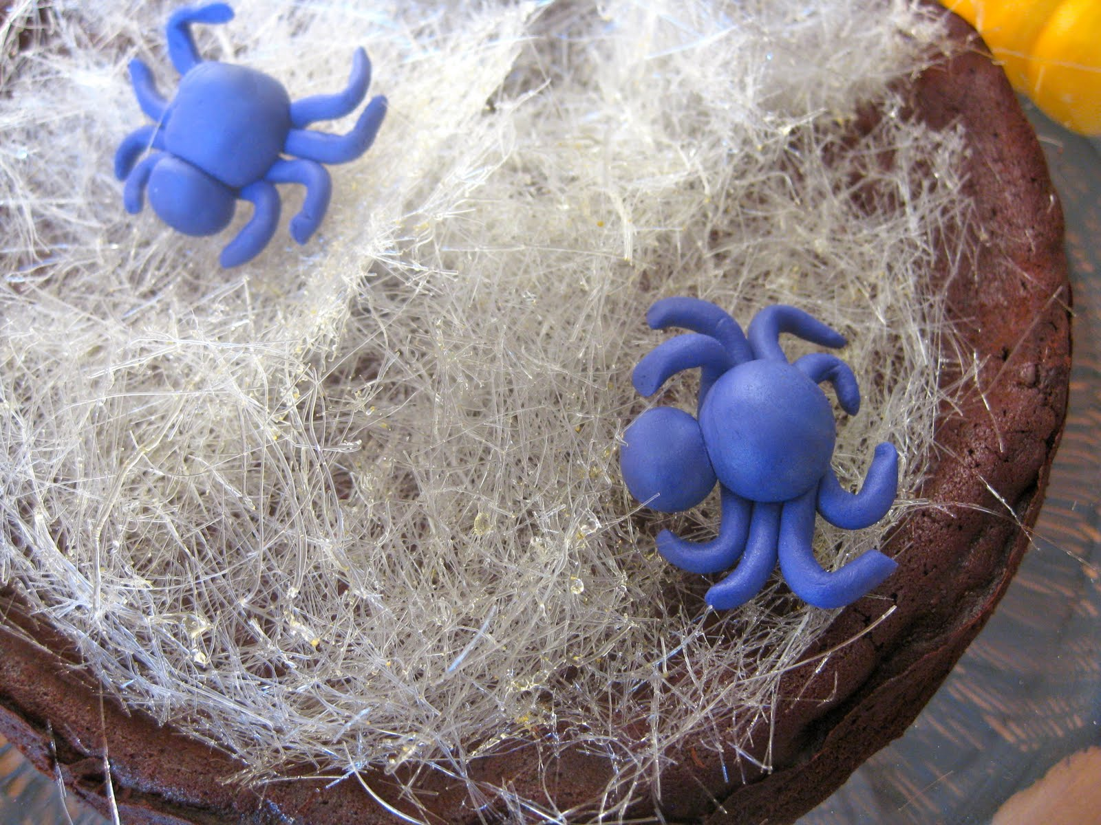 Pixie Crust Spun Sugar Spider Web Flourless Chocolate
