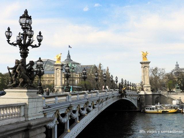 Puente de Alejandro III o Pont Alexander III, París