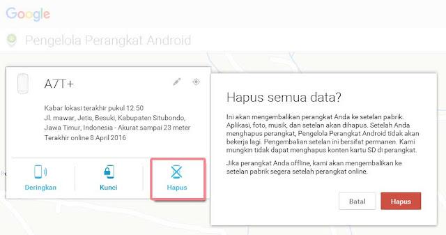 Melacak Ponsel Android yang Hilang