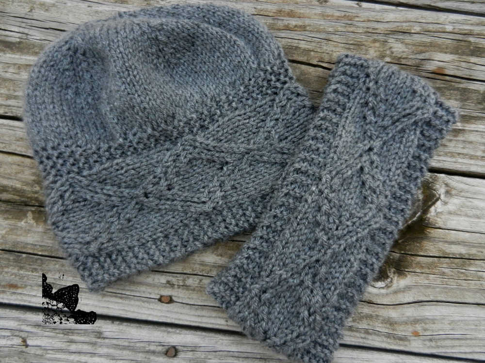 Designs By Diligence Diamond Dimensions Hat And Ear Warmer