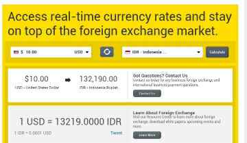 Melihat Kurs Western union via browser android