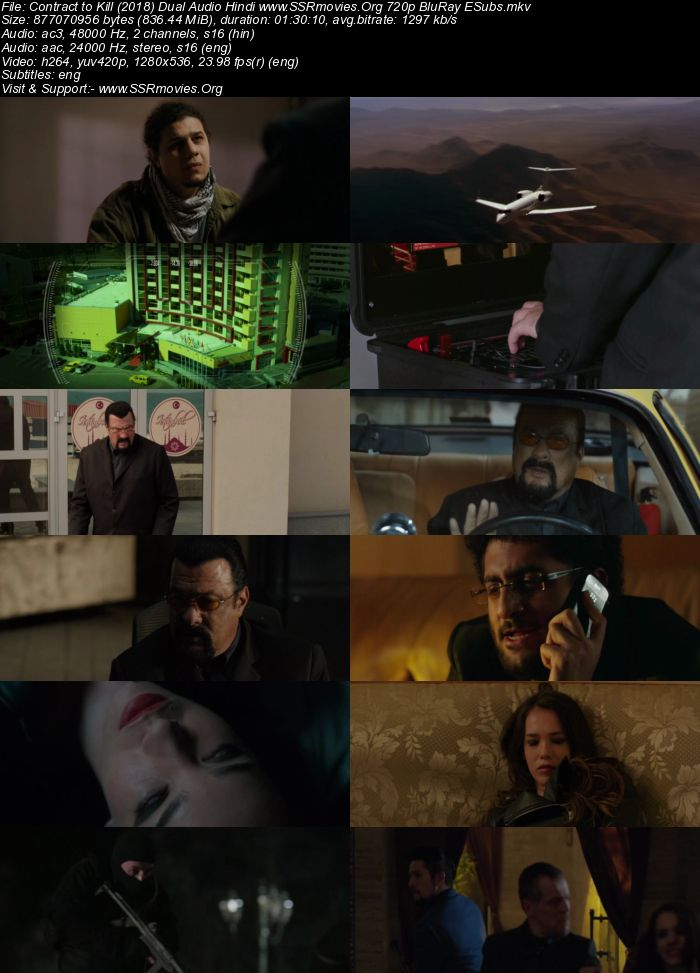 Contract to Kill (2018) Dual Audio Hindi 720p BluRay x264 800MB Full Movie Download