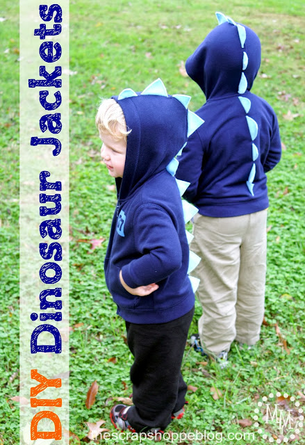 DIY Dinosaur Jackets - a simple sewing project
