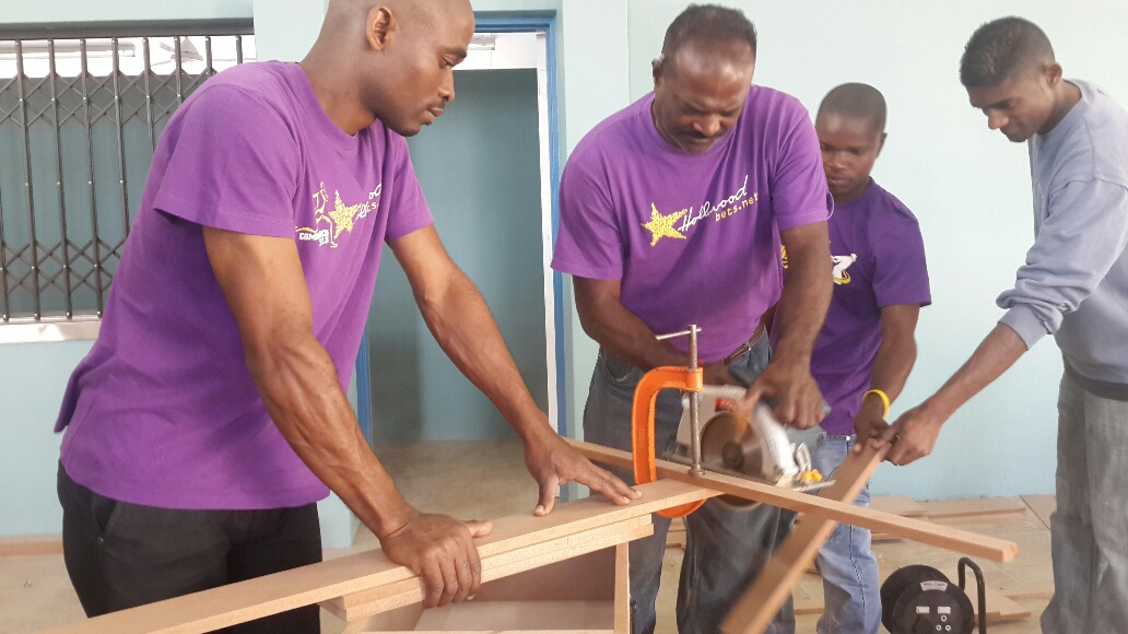 The Hollywoodbets Team at work at the Zamani Lakehaven Child and Youth Care Centre