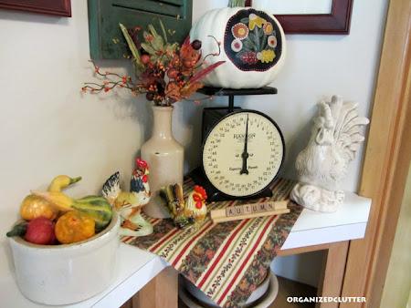 Fall Kitchen Vignette