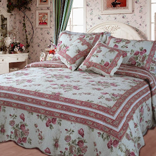 DaDa Bedding DXJ103136 French Country Cotton 3-Piece Quilt Set, Twin, Floral