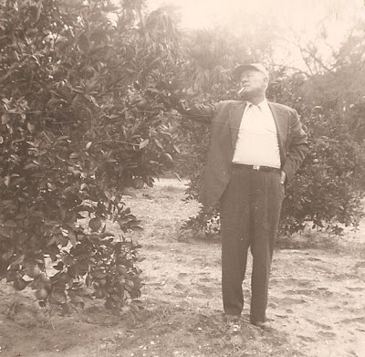 Fred Slade, Sr. in orange grove