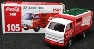 Tomica - 105 Coca Cola Route Truck  , 紙盒裝