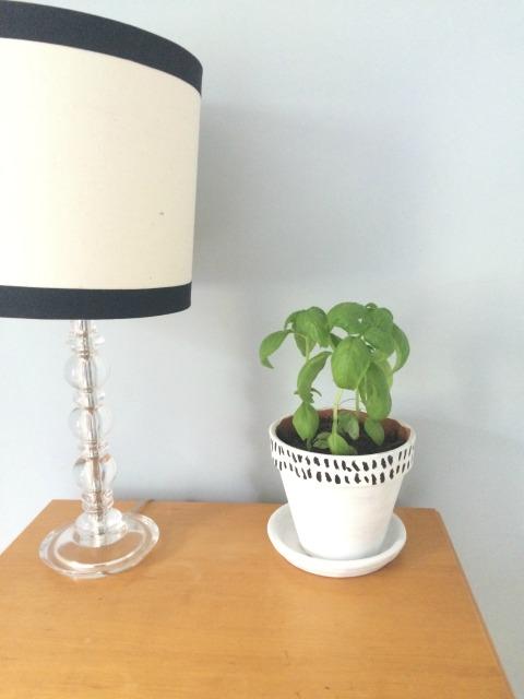 Closeup of planter