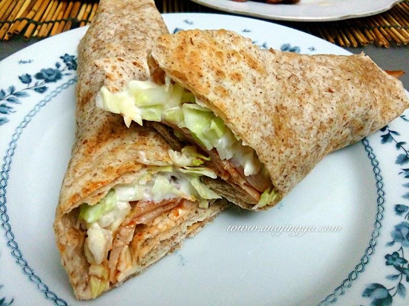 Homemade Tortilla Wrap Mudah & Sedap