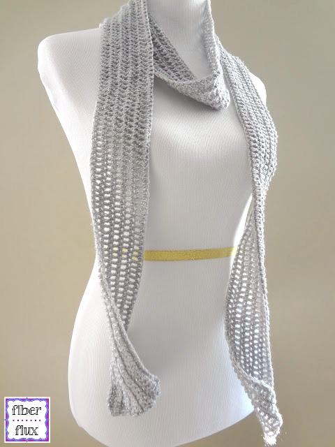 Fiber Flux Free Crochet Patternlver Dollar Skinny Scarf