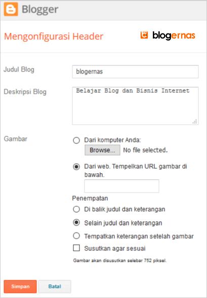 Cara Ampuh Menghapus Gambar Header Blog