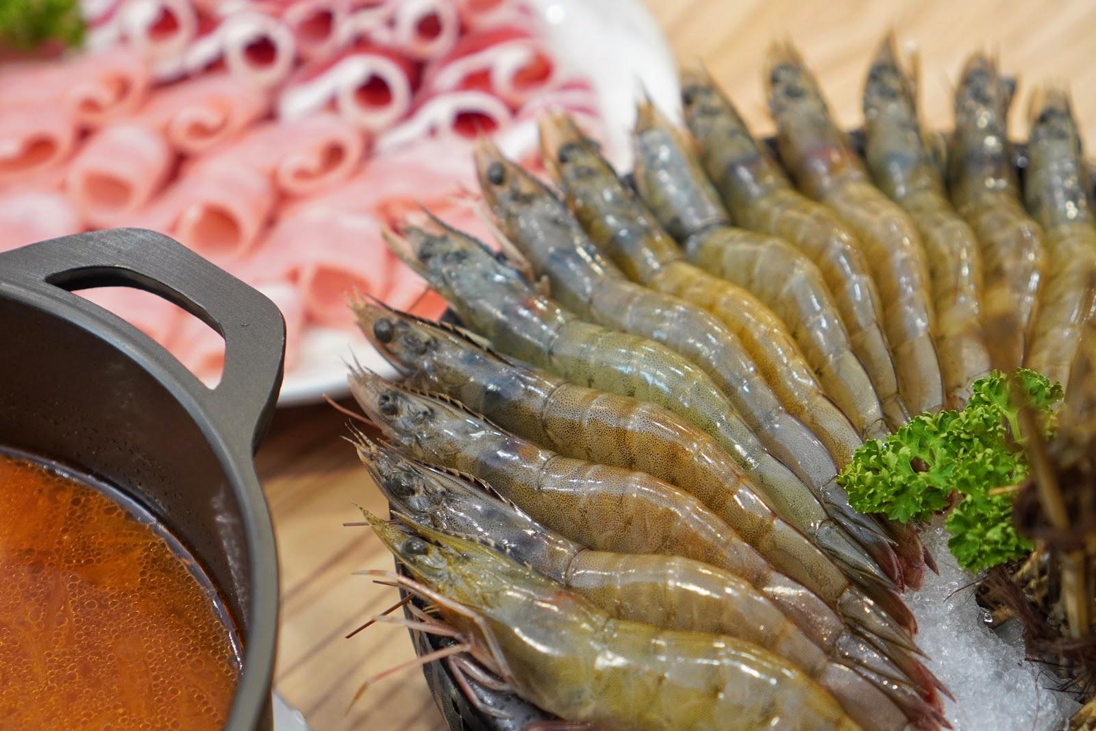 台南美食【小蔡什鍋】餐點介紹 大白蝦