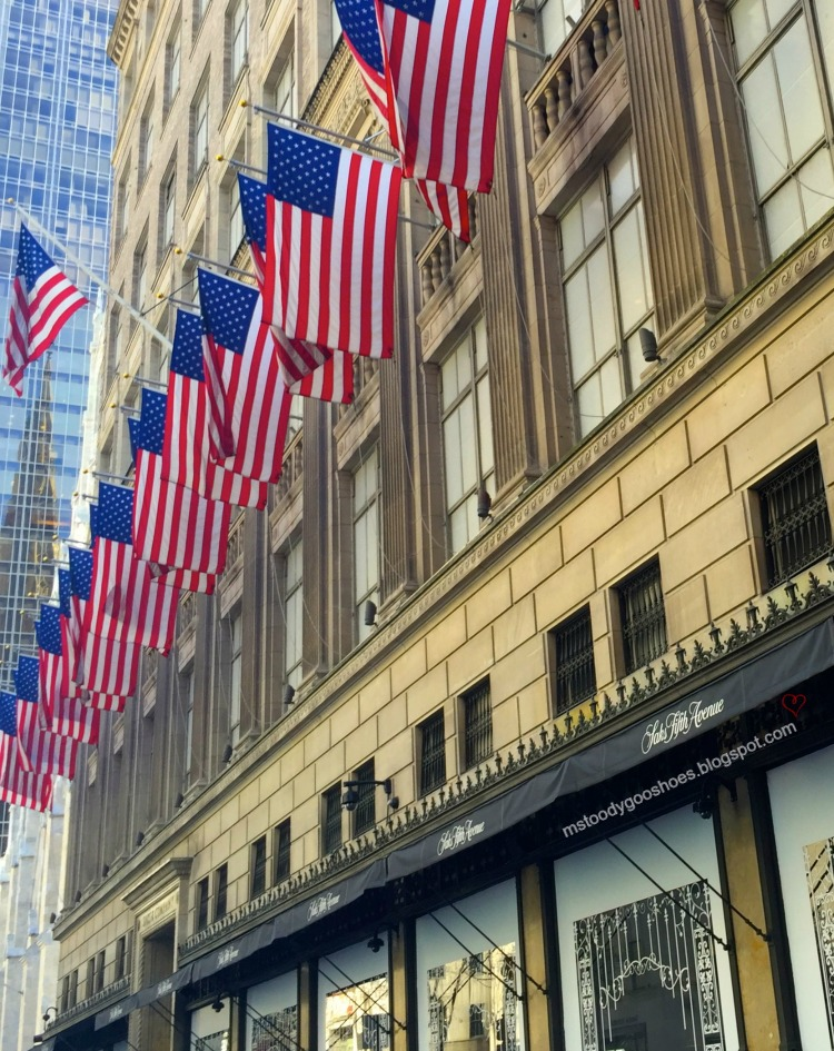 Saks Fifth Avenue, NY | Ms. Toody Goo Shoes #americanflag