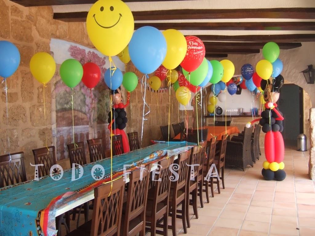 Decoraci n con globos de todo fiesta decoraciones para - Decorar para un cumpleanos ...