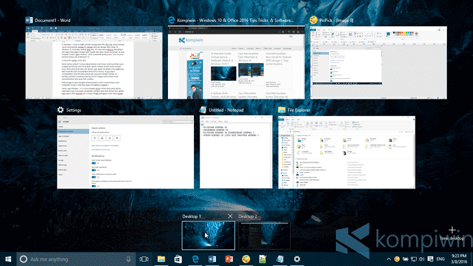 virtual desktop di windows 10