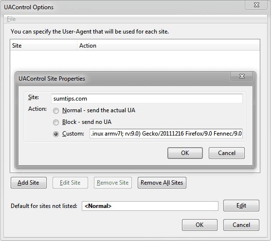 UAControl for Firefox