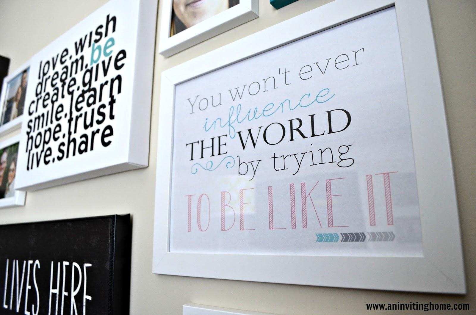 Frames With Quotes On Them: Black And White Framed Quotes. QuotesGram