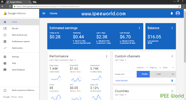 AdSense New Updated UI Change
