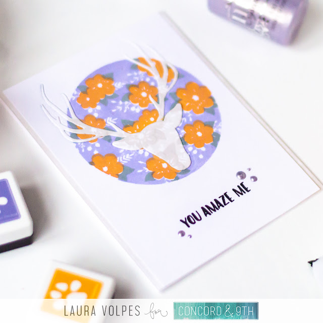 Spotlight Inlay Die Cutting Technique with Floral Print Silhouette