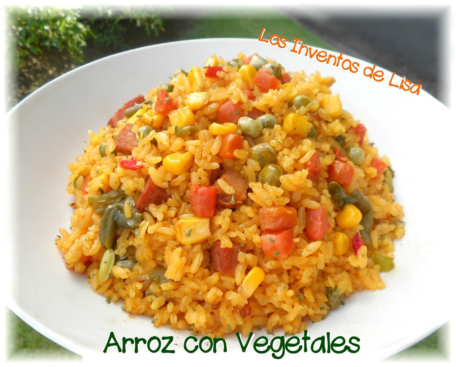 Los inventos de lisa arroz con vegetales for Cocinar 2 tazas de arroz