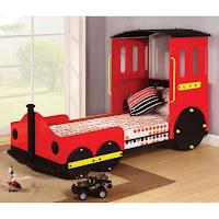 Increíbles camas que les encantarán a los pequeños tren rojo