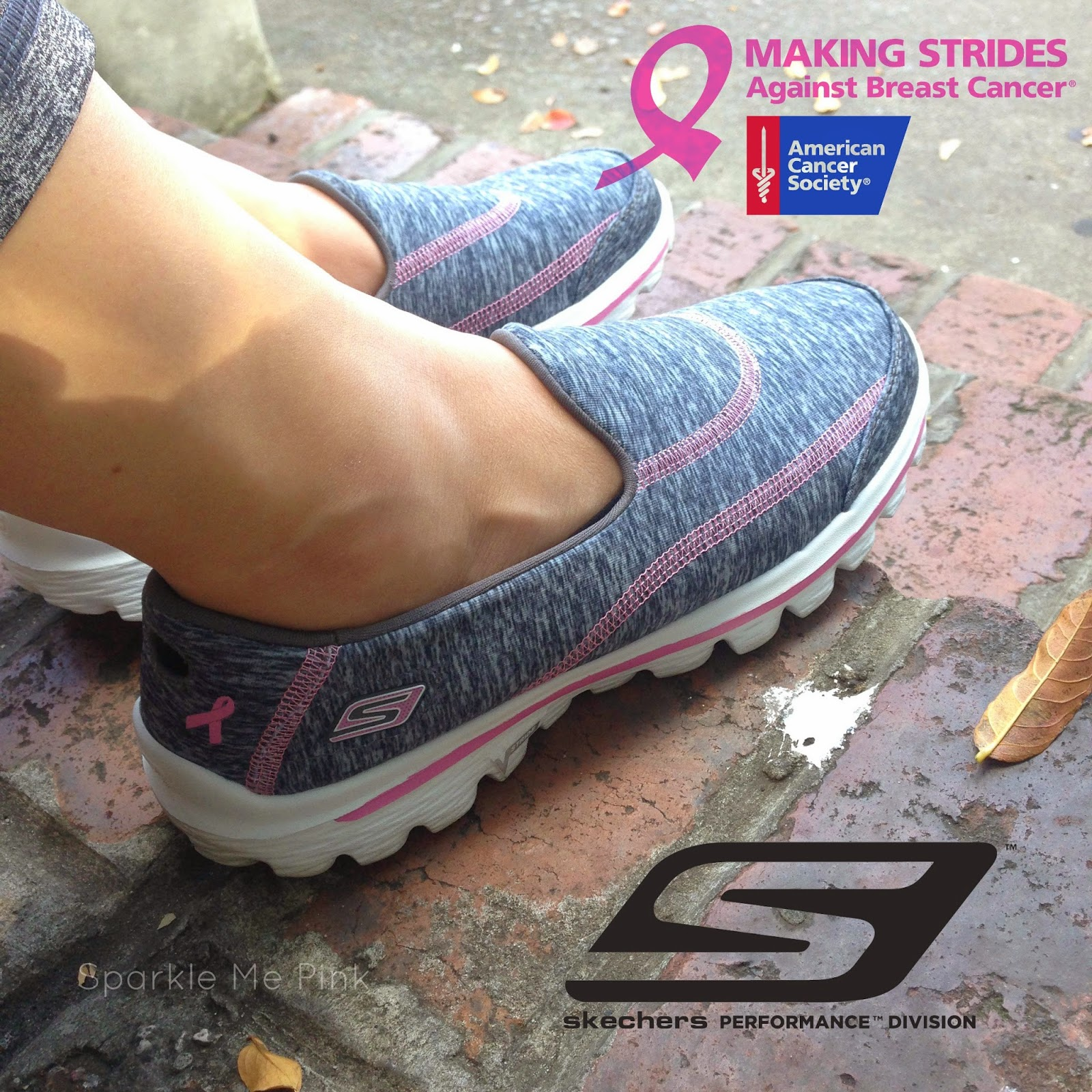 Sparkle Me Pink  Skechers GOwalk 2 REVIEW + Support Breast Cancer ... f1fce10cf