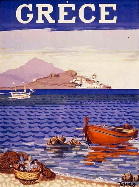 Vintage Greek travel poster Tetsis 1948