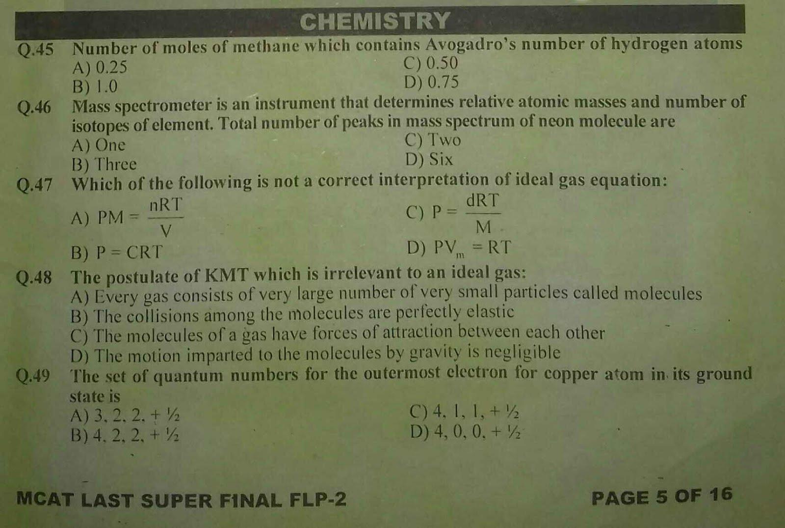 KIPS MCAT Chemistry Full Length Paper-2 1