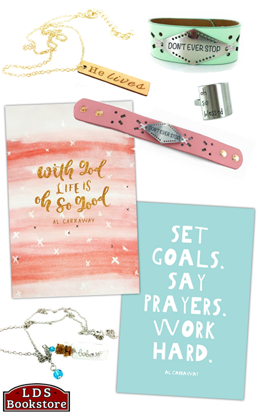 Check out these LDS products inspired by Al Fox Carraway! Jewelry, journals, and gift sets! These are so cute and would make great gifts for teen birthdays along with a copy of the book. #lds #ldsbookstore #gifts