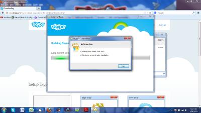 Ошибка skype error 1603.