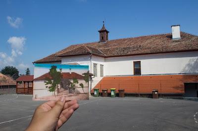 100 év Alsósófalva - Az iskola udvara