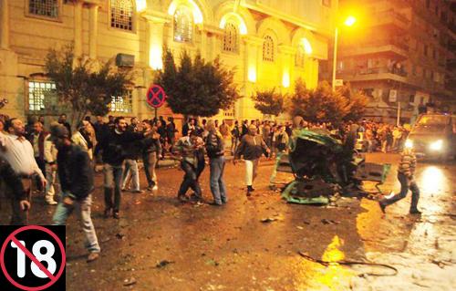 شاهد | ننشر اللقطات الأولى من داخل الكنيسة البطرسية بالعباسية بعد انفجار عبوة ..  مشاهد مزعجة