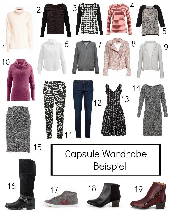 Capsule Wardrobe Beispiel