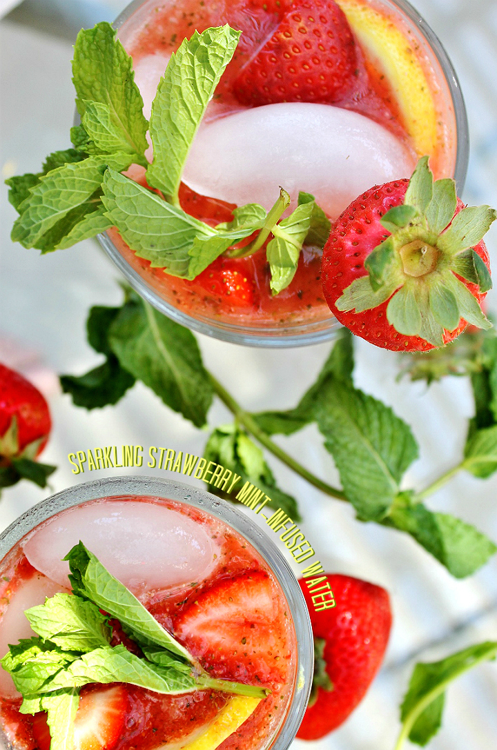 This Sparkling Strawberry Mint-Infused Water is the perfect way to stay refreshed without added sugars! #NatureMadeHealthPack #AD