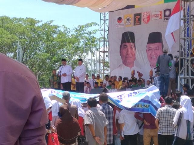 Rapat Akbar, Begini Orasi Politik Tarmizi Karim