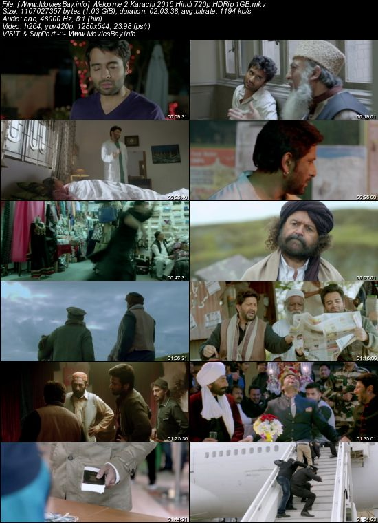 Welcome 2 Karachi 2015 Hindi 720p HDRip 1GB worldfree4u