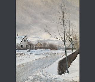 The National Gallery has acquired 'Road in the Village of Baldersbrønde' (Winter Day) by Laurits Andersen Ring...