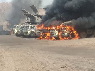 भौंरा के देवप्रभा आउट सोर्सिंग में चली गोलियाँ , एक की मौत , दो घायल , दर्जनों वाहन हुए आग के हवाले