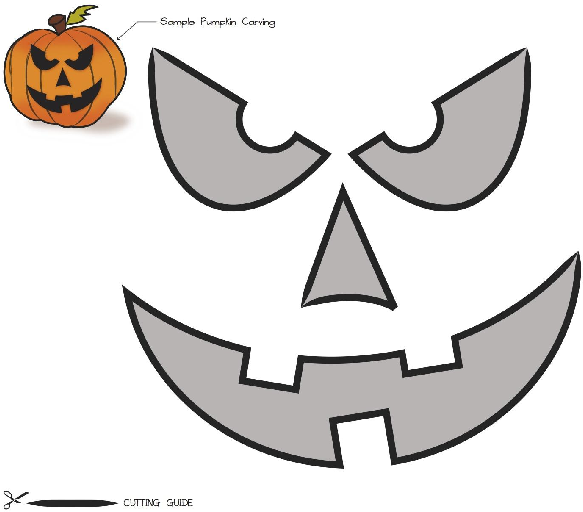Free printable easy funny jack o lantern face stencils for Pumpkin mouth template