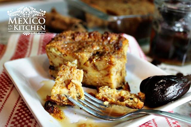 Mexican Bread pudding -Budin de pan